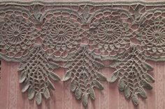 crocheted lace edge-terminated/crochet
