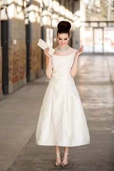 Catherine Langlois Bridal Tea Length Wedding Dress