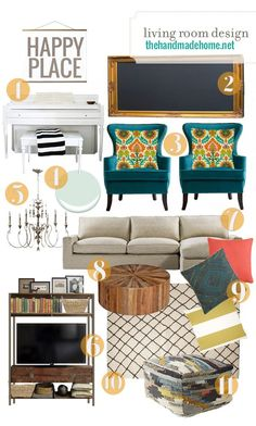 living room design ideas - the handmade homethe handmade home