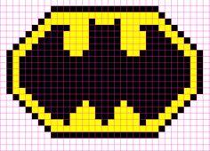 Batman Logo Minecraft Pixel Art Template