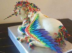 Giant unicorn cake - yes, that's a cake!