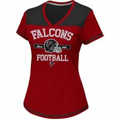 Atlanta Falcons Ladies Champion Swagger V-Neck T-Shirt - Red