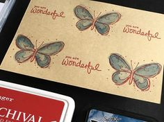 Darkroom Door Fine Butterflies and Simple Sayings Vol 2 Stamp Sets