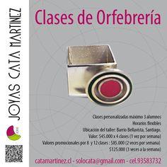 Clases de Orfebrería | Argollas de Matrimonio | Diseños especiales a pedido | solocata@gmail.com | 09.93583732