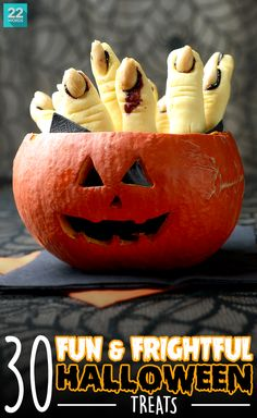 Halloween is known for dressing up, creeping out, and delicious tricks and treats. So why should you be the only one who puts on a costume? Make your food as fun (and frightful) as everything else with a few simply spooktacular ideas found in these easy, fun and festive recipes, perfect for your Halloween party — kids love them, too!