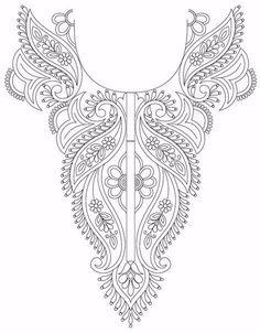 Embroidery pattern for neck hole | Схема для вышивки горловины