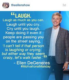 Ellen Degeneres Instagram inspiration. :)