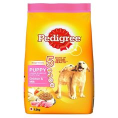 Pedigree Puppy Dog Food Chicken & Milk( 400 g) good health food (Small Pack) Dogfood Chicken Milk, Chicken Chunks, Wet Dog Food, Puppy Food, Pet Food, Pedigree Dog Food, Dog Food Online, Dog Food Reviews, Human Babies