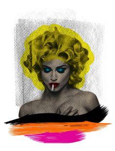 Arte: NA CAMA COM MADONNA V Artista: Ana Paula Hoppe