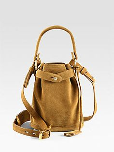 All about #khaki - Opening Ceremony Pop-Up Suede Bucket Bag #openingceremony