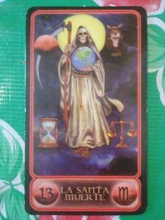 Tarot de la Santa Muerte Meanings: La Santa Muerte / Holy Death #Tarot #SantaMuerte #HolyDeath
