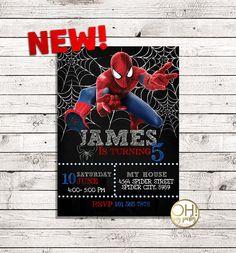Spiderman Birthday invitation, spiderman invitation, spiderman birthday, spiderman invite, sipiderman party,spiderman invitations,spiderman