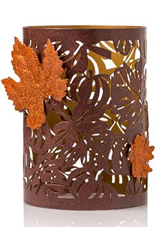 Pumpkin Leaf Shade with Glittered Leaf Medallions. (While Supplies Last). A pumpkin patch of fall icons sets off gorgeous glittered leaves. Pink Zebra Consultant, Zebra Shades, Pink Zebra Home, Pink Zebra Sprinkles, Metal Pumpkins, Pumpkin Leaves, Autumn Display, Shimmer Lights, Candle Warmer