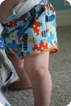 Polkadot Pear: Shorty Short Diaper Cover {Tutorial}