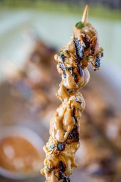 The most delicious Chicken Satay with creamy peanut sauce!