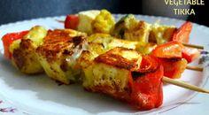 Spicy Vegetable Tikka Mixed Vegetables, Veggies, India Food, Veggie Recipes, Broccoli, Cauliflower, Spicy, Bbq, Red Green