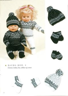 Albumarkiv Baby Born Clothes, Preemie Clothes, Knitting Dolls Clothes, Knitted Dolls, Girl Doll Clothes, Doll Clothes Patterns, Girl Dolls, Baby Dolls, Knitting For Kids