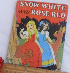 1938 Snow White and Rose Red by GreenGablesLane on Etsy,