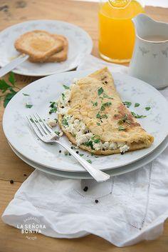Omelette de ricotta y hierbas