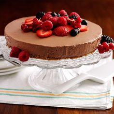 Sjokoladeostekake med bær
