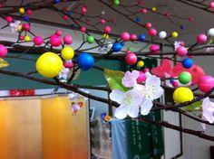 【だんご木】平成22年1月10日、斎館に小正月の恒例行事『だんご木』を飾り付けました。