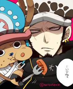 Chopper and Law ❤ The lovely doctors of #OnePiece.
