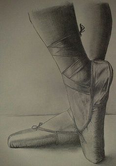Ballerina shoes drawing
