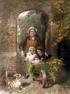 Driving A Pair ~ George Bernard O'Neill ~ Irish Painter