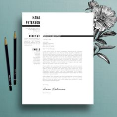 Professional Resume Template  Cover Letter Template  References     Professional Resume Template  Cover Letter Template  References Template   MS Word  Creative Resume Template  Instant Digital Download  Hana    Pinterest