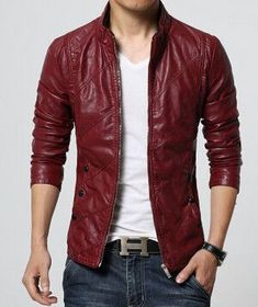 Mens Winter Leather Suede Jackets Red Black Fashion Jacket Coat Men Pilot Style Windbreaker Male Motorcycle Leather Jacket Man
