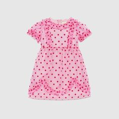 Shop the Baby silk stars flock dress by Gucci. Baby Kids Clothes, Toddler Girl Outfits, Baby Girl Dresses, Kids Outfits, Clothes For Women, Nautical T Shirts, Baby Dress Design, Zara, Baby Tutu
