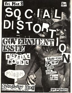 Old Punk Flyers. Wow. Back in the day.