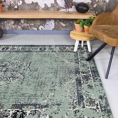 Vintage vloerkleed - Wonder Groen/Zwart 185x275cm Tiny House, Sweet Home, Irene, Garage, Home Decor, Style, Accessories, Carport Garage, Swag