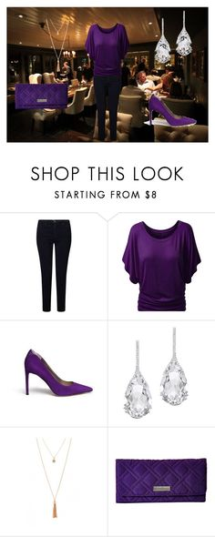 """""""Dinner date"""" by fangirl-irl on Polyvore featuring AG Adriano Goldschmied, Sam Edelman, Plukka and Vera Bradley"""