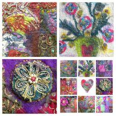 gill pinkney felt: the joy of stitch....