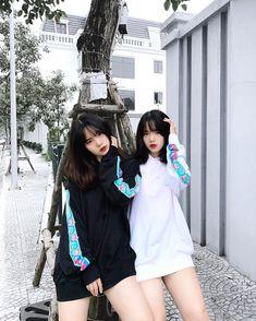 Ulzzang, Besties, Adidas Jacket, Vietnam, Best Friends, Korea, Street Style, Hoodies, Couples