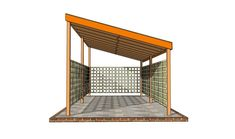 The pergola kits are the easiest and quickest way to build a garden pergola. There are lots of do it yourself pergola kits available to you so that anyone could easily put them together to construct a new structure at their backyard. Lean To Carport, Carport Plans, Pergola Diy, Pergola Carport, Curved Pergola, Pergola Attached To House, Wooden Pergola, Diy Deck, Pergola Plans
