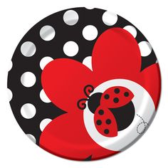 Ladybug Small Plates (Pack of 8)