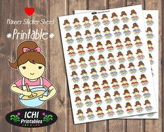 #Kawaii #Baking Girl Brunette #Printable #Planner Stickers Download by Ichiprintables https://www.etsy.com/listing/524886104/kawaii-baking-and-cooking-plannerer?utm_content=bufferc16e8&utm_medium=social&utm_source=pinterest.com&utm_campaign=buffer