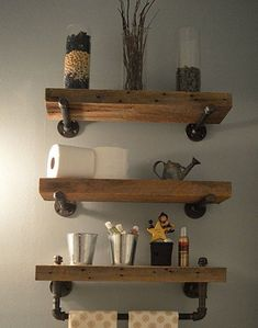 Easy shelf ideas that you can DIY with galvanised pipe