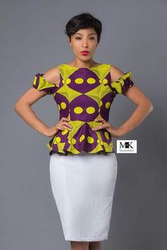 More Beautiful Ankara Tops You Can Sew – A Million Styles African Dresses For Women, African Print Dresses, African Attire, African Fashion Dresses, African Wear, African Women, African Prints, Ankara Fashion, African Style
