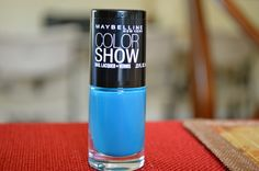 """Maybelline Color Show """"Shocking Seas""""  I have been looking for a blue like this for SO LONG! Finally, the perfect one! Time to stock up!"""