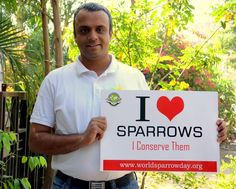 Mr.Dilawar loves sparrows and he is doing his bit to conserve them