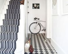 This light and spacious house was the perfect blank canvas for a modern colour scheme and style revamp. Modern Color Schemes, Modern Colors, 1930s Hallway, 1930s House Exterior, Bristol Houses, Hippie House, Hallway Flooring, House With Porch, Hallway Decorating