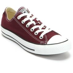 Adult Converse All Star Sneakers ($55) ❤ liked on Polyvore featuring shoes, sneakers, converse, red, converse shoes, lace up sneakers, unisex sneakers, converse sneakers and red shoes
