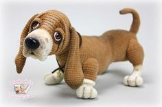 The dog breed Basset. Handmade. #AllOccasion