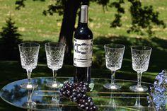 Vintage CRYSTAL ROYAL DOULTON Wine Glasses Set of 4  Made in Vintage Wine Glasses, Royal Doulton, Jewelry Stores, Wines, Lovers, Crystals, Elegant, How To Make, Etsy