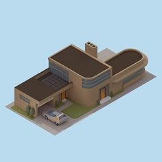 '30 isometric renders in 30 days' Round 2 on Behance - Honeywell house