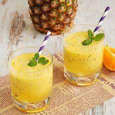 Koktajl ananasowo-pomarańczowy z kiwi