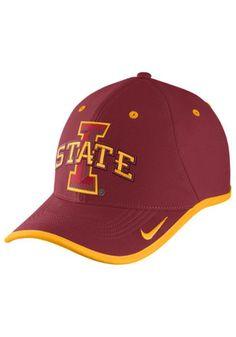 Nike Iowa State Cyclones Mens Red Performance Coaches Adjustable Hat Iowa  State Cyclones bdab22784f1b